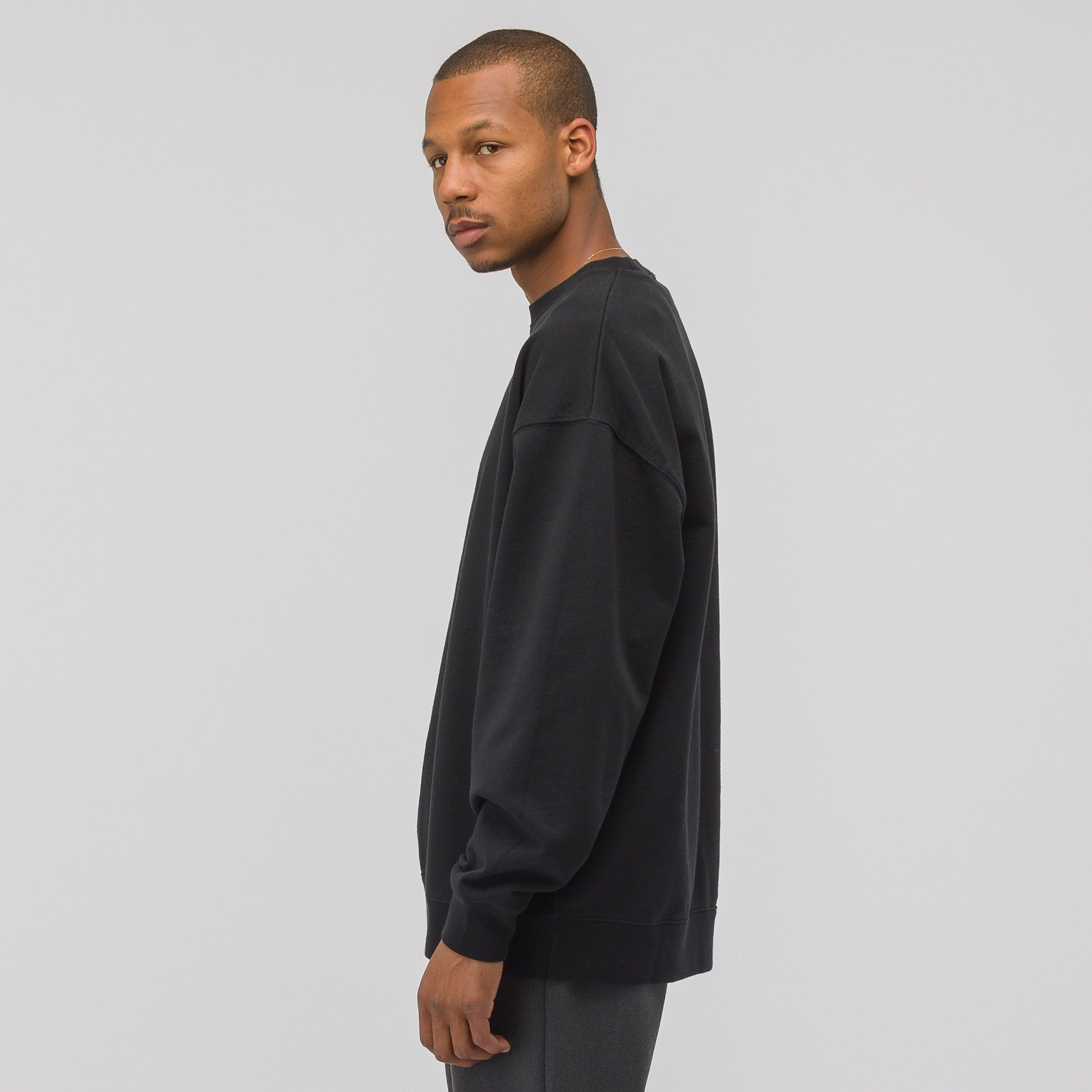Garment Dyed Sweatshirt in Black