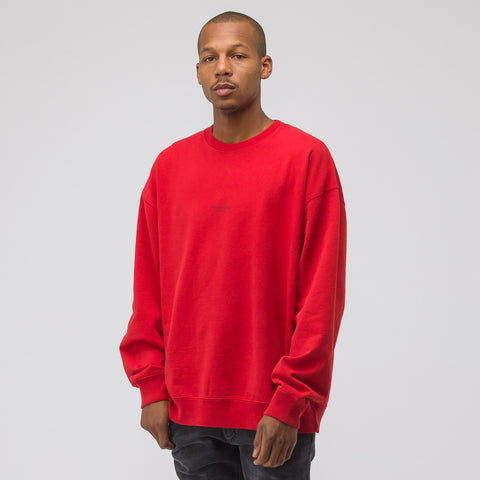 Acne Studios Garment Dyed Sweatshirt in Tomato Red - Notre