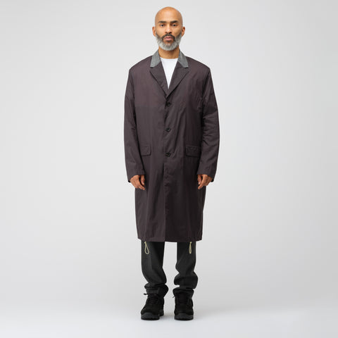 Acne Studios Sagan Nylon Trench Coat in Black - Notre