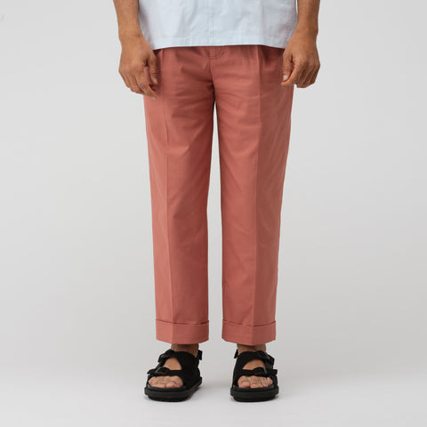 Acne Studios Cropped Cuffed Trouser in Ginger Orange - Notre