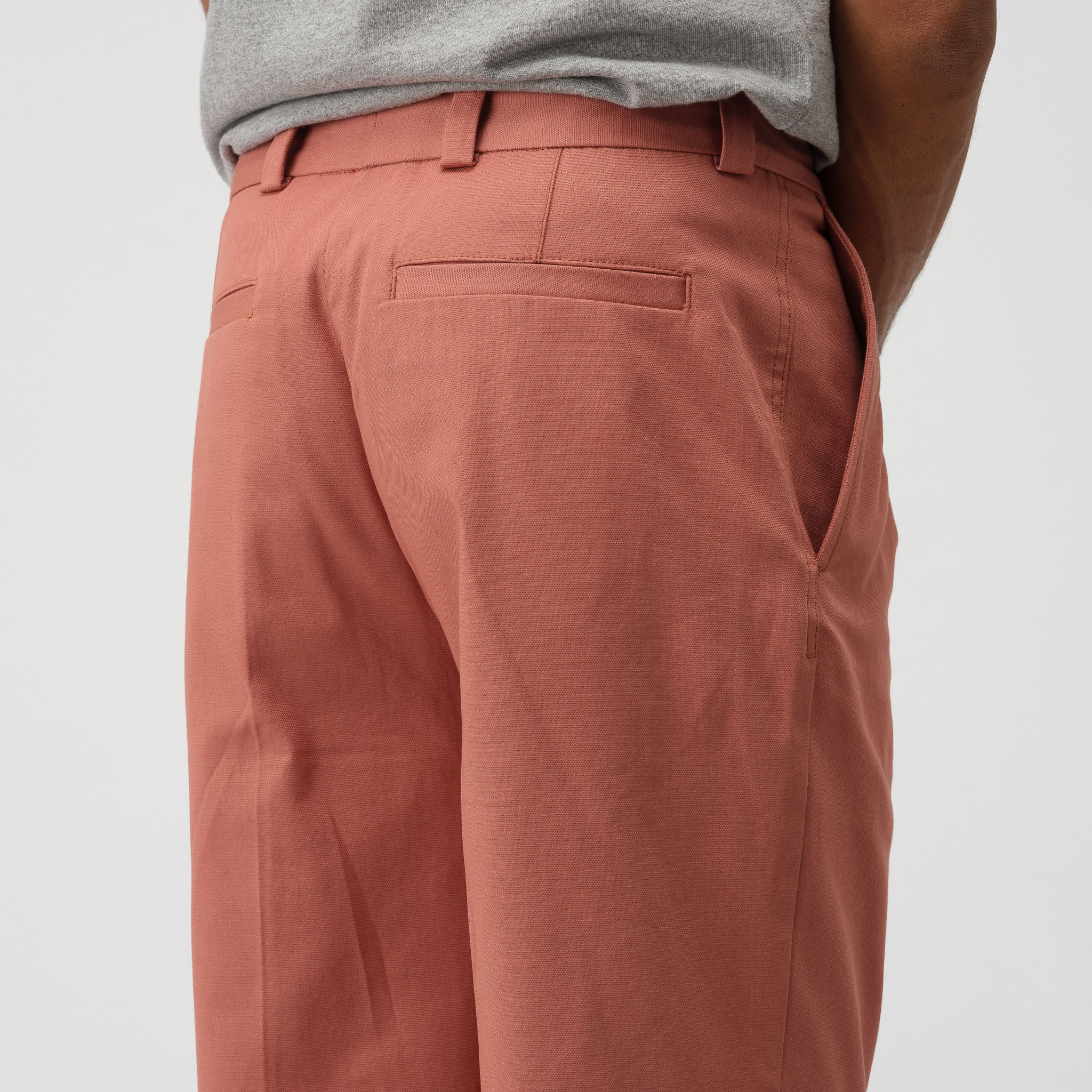 Cropped Cuffed Trouser in Ginger Orange