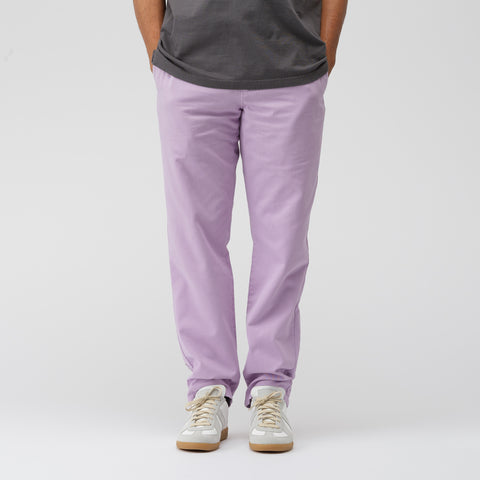 Acne Studios Ishir Garment Dye Trousers in Lilac Purple - Notre