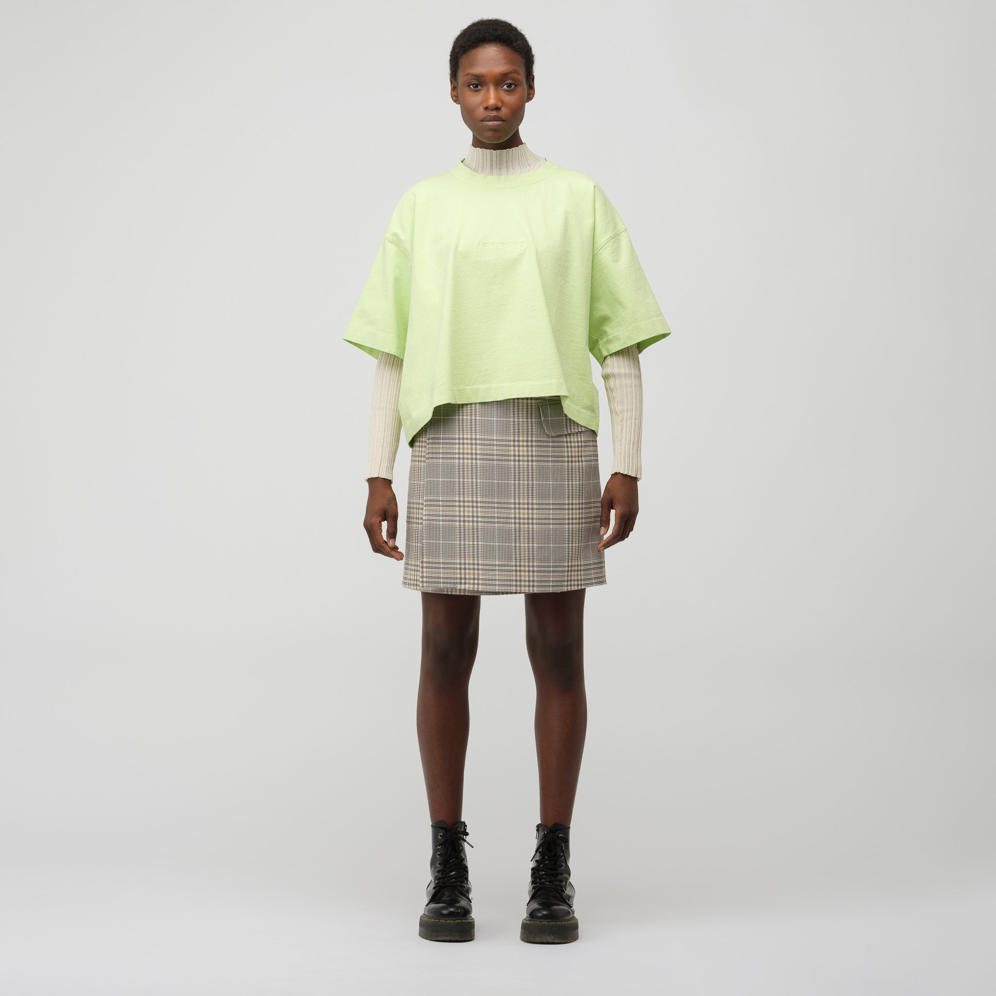 Women's Cylea Emboss T-Shirt in Lime Green