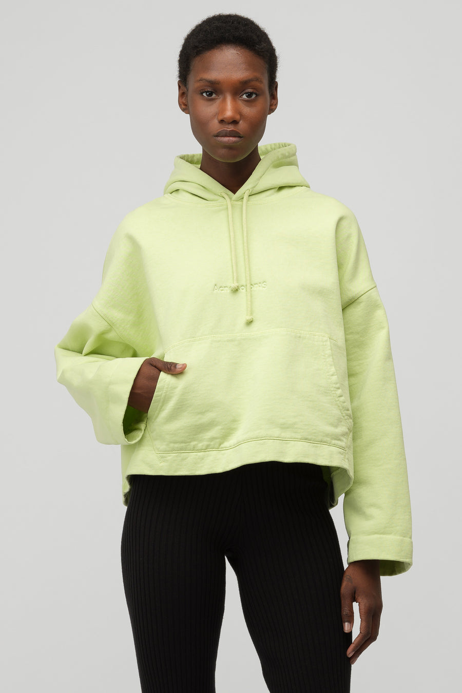 footwear distinctive style save off Women's Joghy Emboss Hooded Sweatshirt in Lime Green