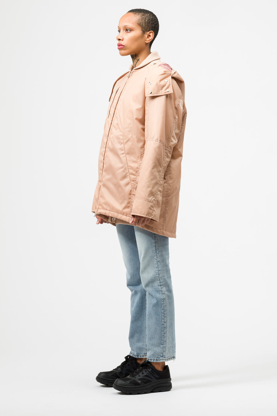 Acne Studios Ottoline NY Bomber in Dusty Pink - Notre