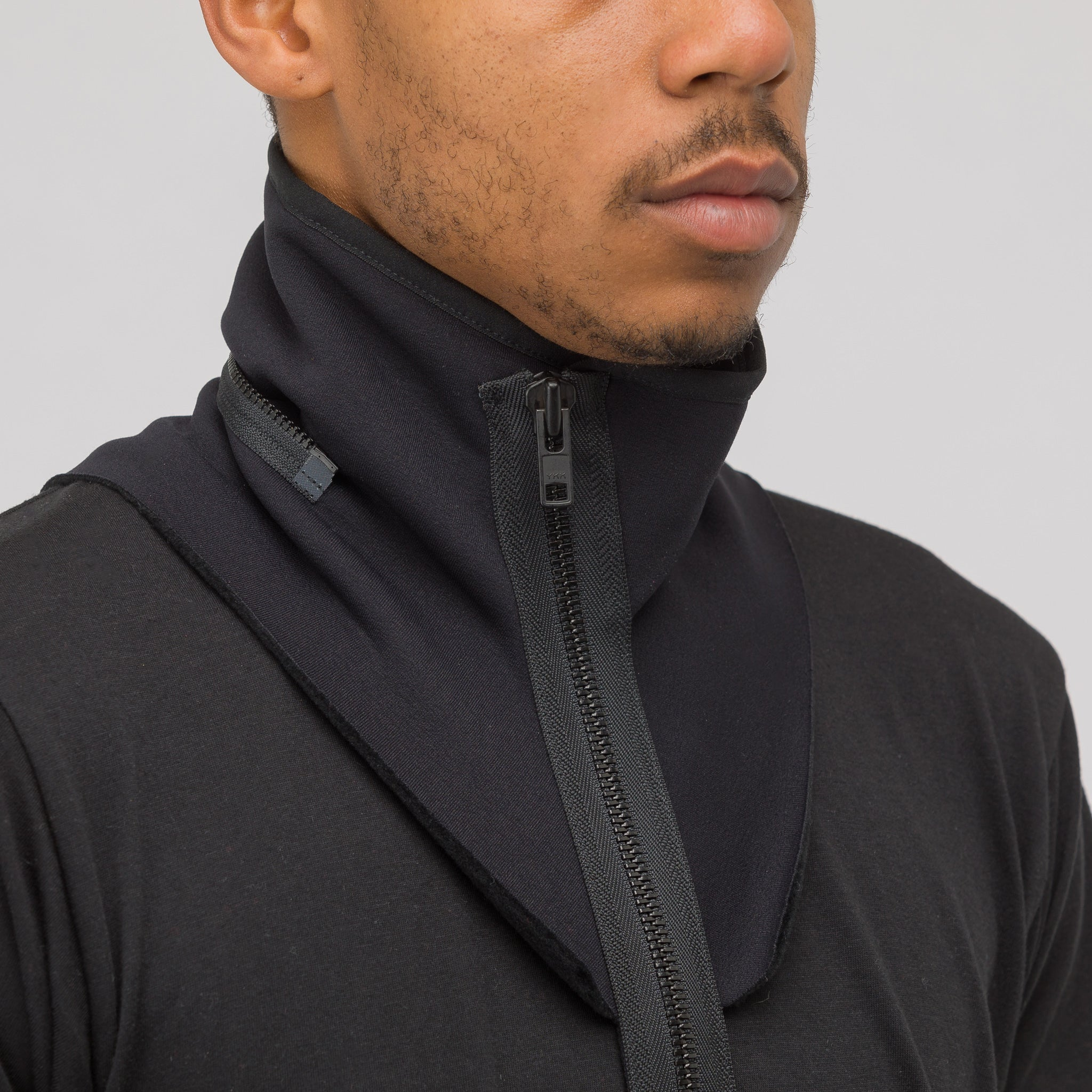 NG9-PS Modular Zippered Power Stretch Collar in Black