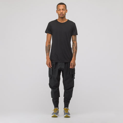 Acronym P-23A-S HD Cotton Cargo Drawcord Trouser in Black - Notre