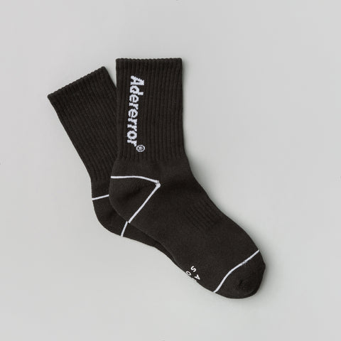 Adererror Diagonal Socks in Black - Notre