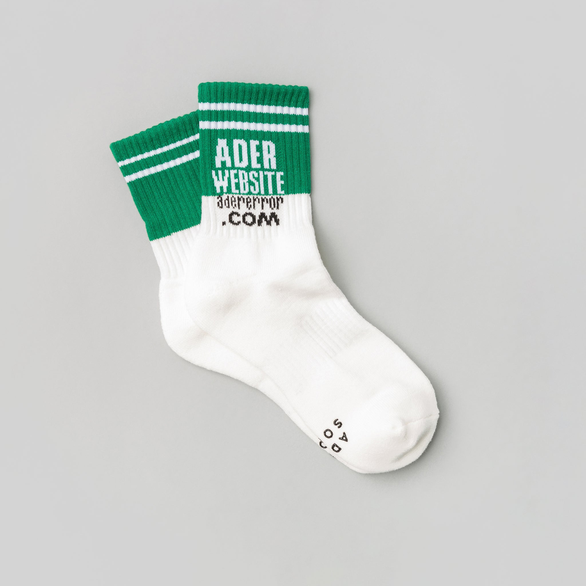 WWW Socks in Green/White