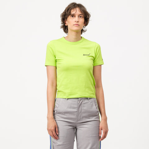 Adererror Arrow Light T-Shirt in Yellow Green - Notre