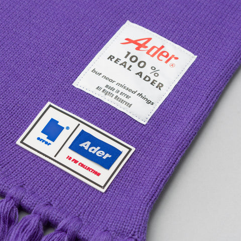 Adererror Diagonal Muffler Scarf in Purple - Notre