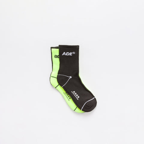 Ade Sock in Black/Neon Green