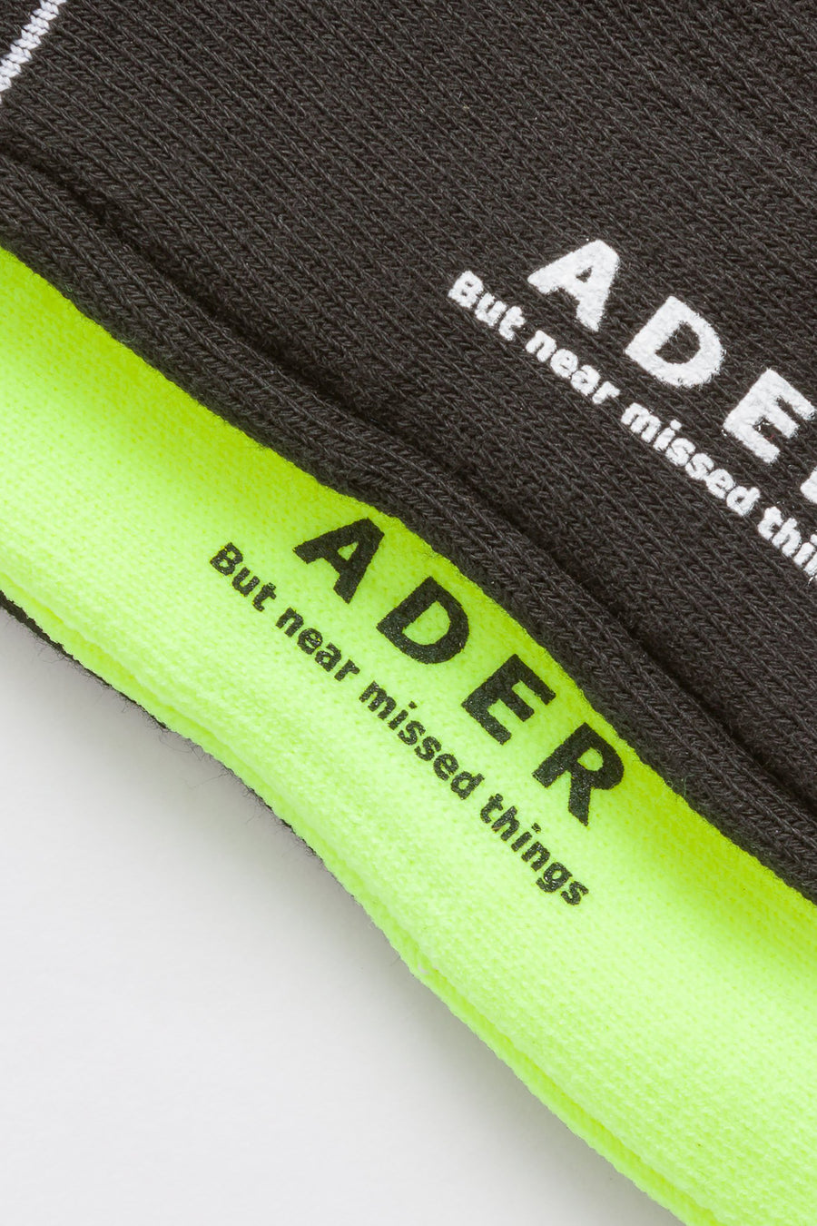 Adererror Ade Sock in Black/Neon Green - Notre