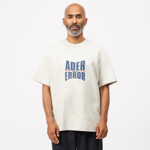 Adererror Form Logo T-Shirt in Oatmeal - Notre