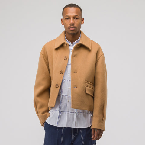 Adererror Single Cropped Coat in Beige - Notre
