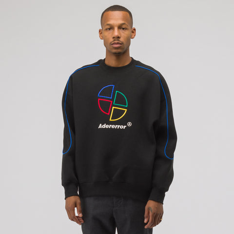 Adererror Slice Logo Sweatshirt in Black - Notre