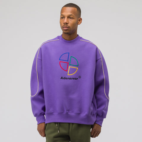 Adererror Slice Logo Sweatshirt in Purple - Notre