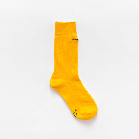 Adererror Logo Socks in Yellow - Notre