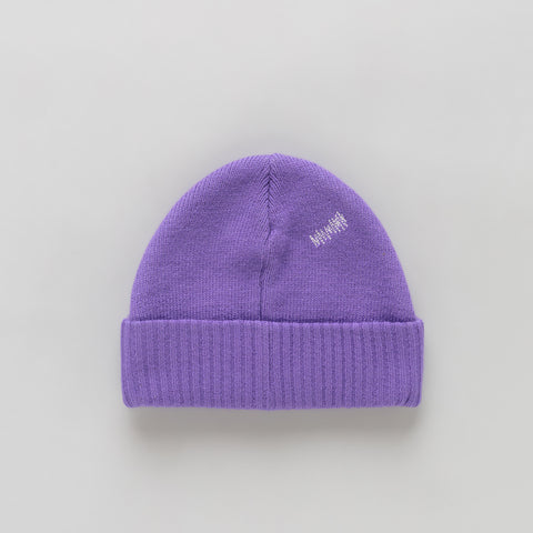 Adererror Tetris Label Beanie in Purple - Notre