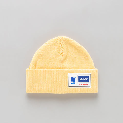 Adererror Tetris Label Beanie in Yellow - Notre