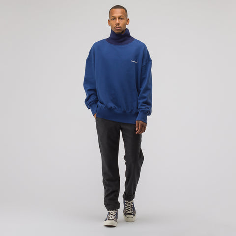 Adererror Turtleneck Sweatshirt in Navy - Notre