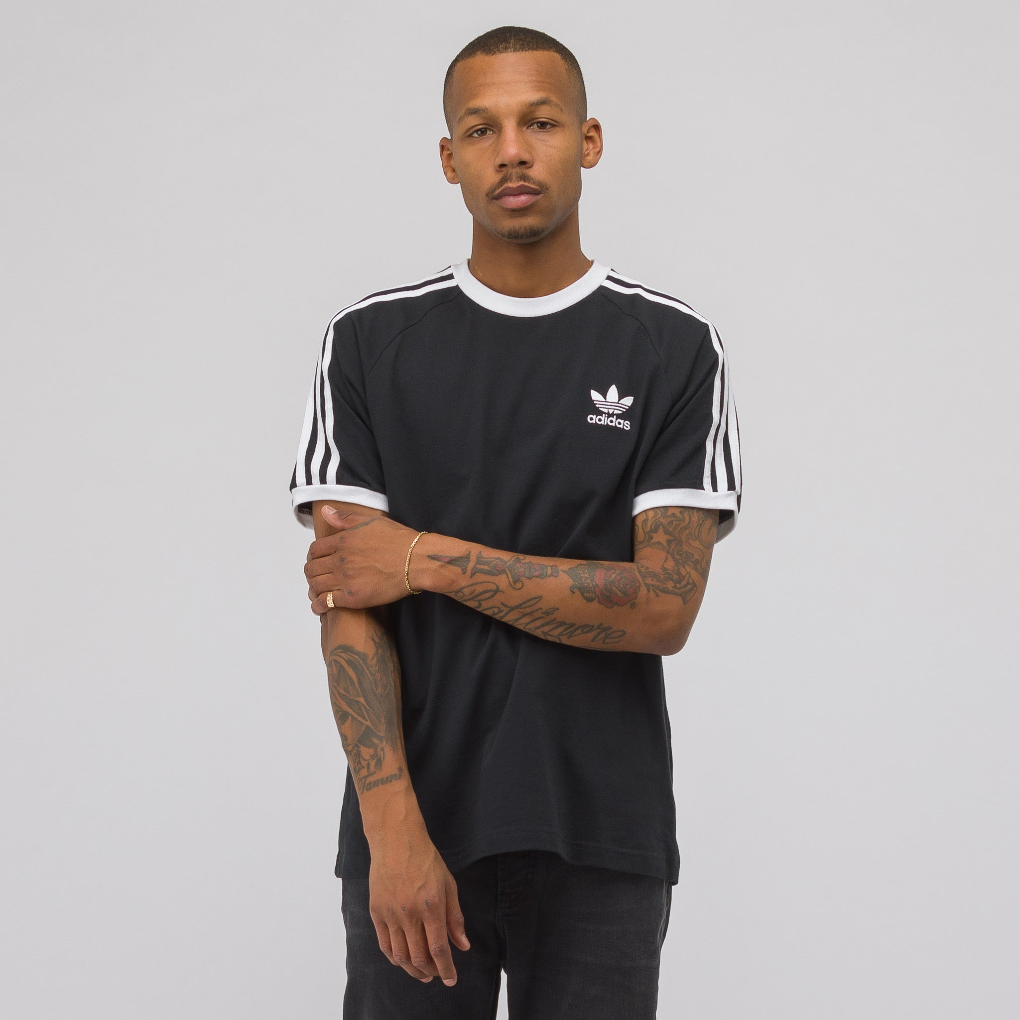 3 Stripes T-Shirt in Black