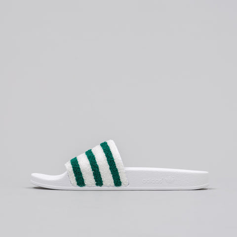 Adidas Adilette Contrast Band in White - Notre