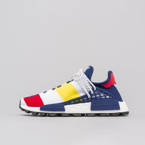 adidas x Pharrell Williams BBC Hu NMD in White/Scarlet/Yellow - Notre
