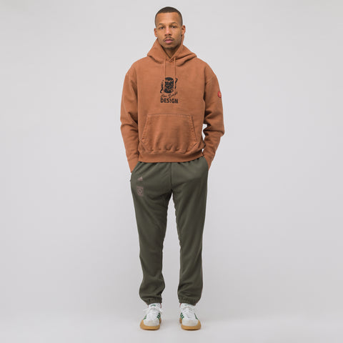 adidas Calabasas Track Pant in Olive/Pink - Notre