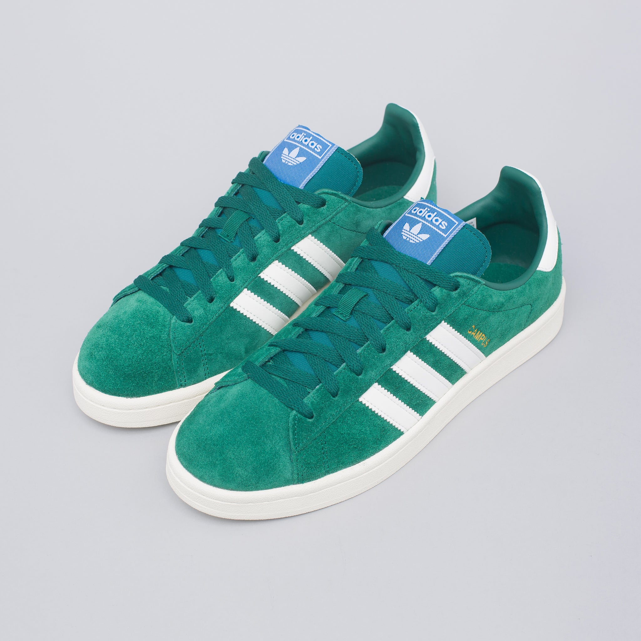 b286e7d31 adidas Campus Shoe in Green Gold