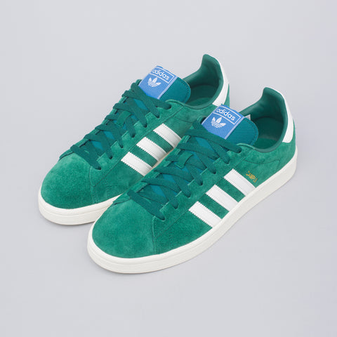 adidas Campus Shoe in Green/Gold - Notre