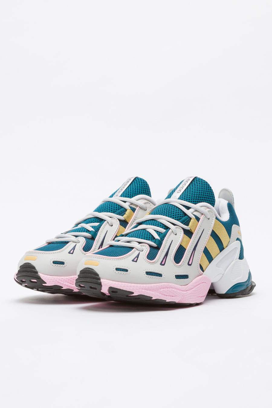 adidas EQT Gazelle W in Tech Mineral/Gold/Pink - Notre