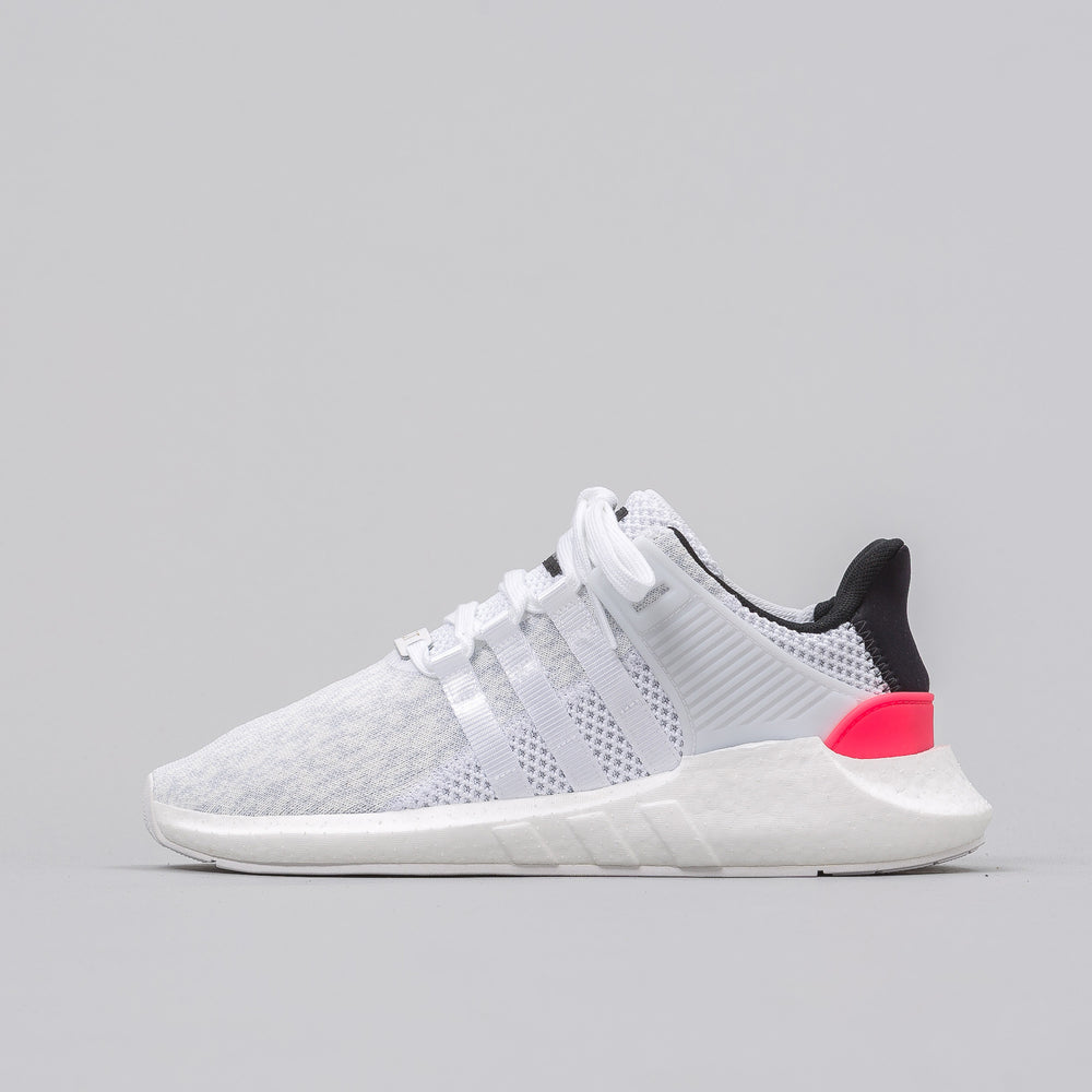Adidas EQT Support 93/17 in Vintage White/Black-Turbo Red - Notre