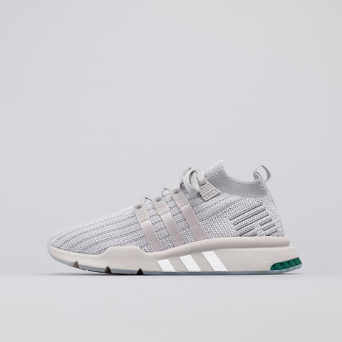 adidas EQT Support Mid ADV Primeknit in Grey/Silver Metallic - Notre
