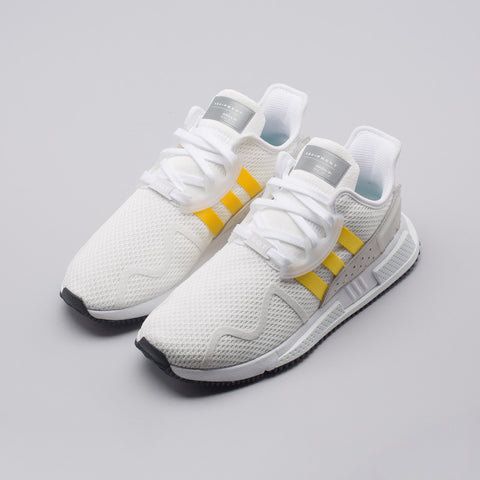 adidas EQT Cushion ADV in White/Yellow - Notre