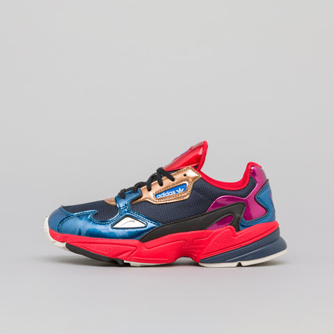 adidas Women's Falcon in Navy/Red - Notre