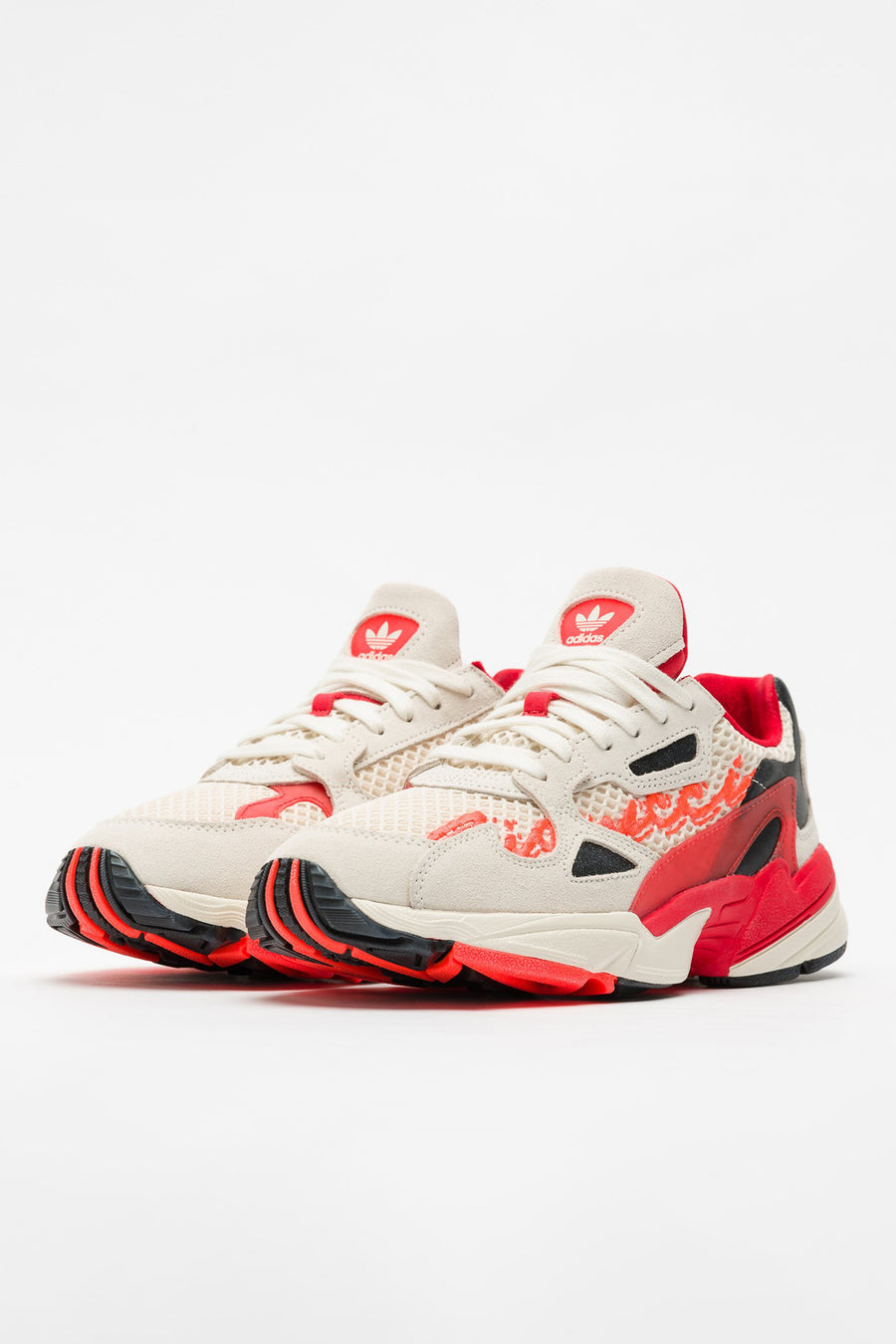 adidas Fiorucci Falcon W in Off White/Red/Orange - Notre