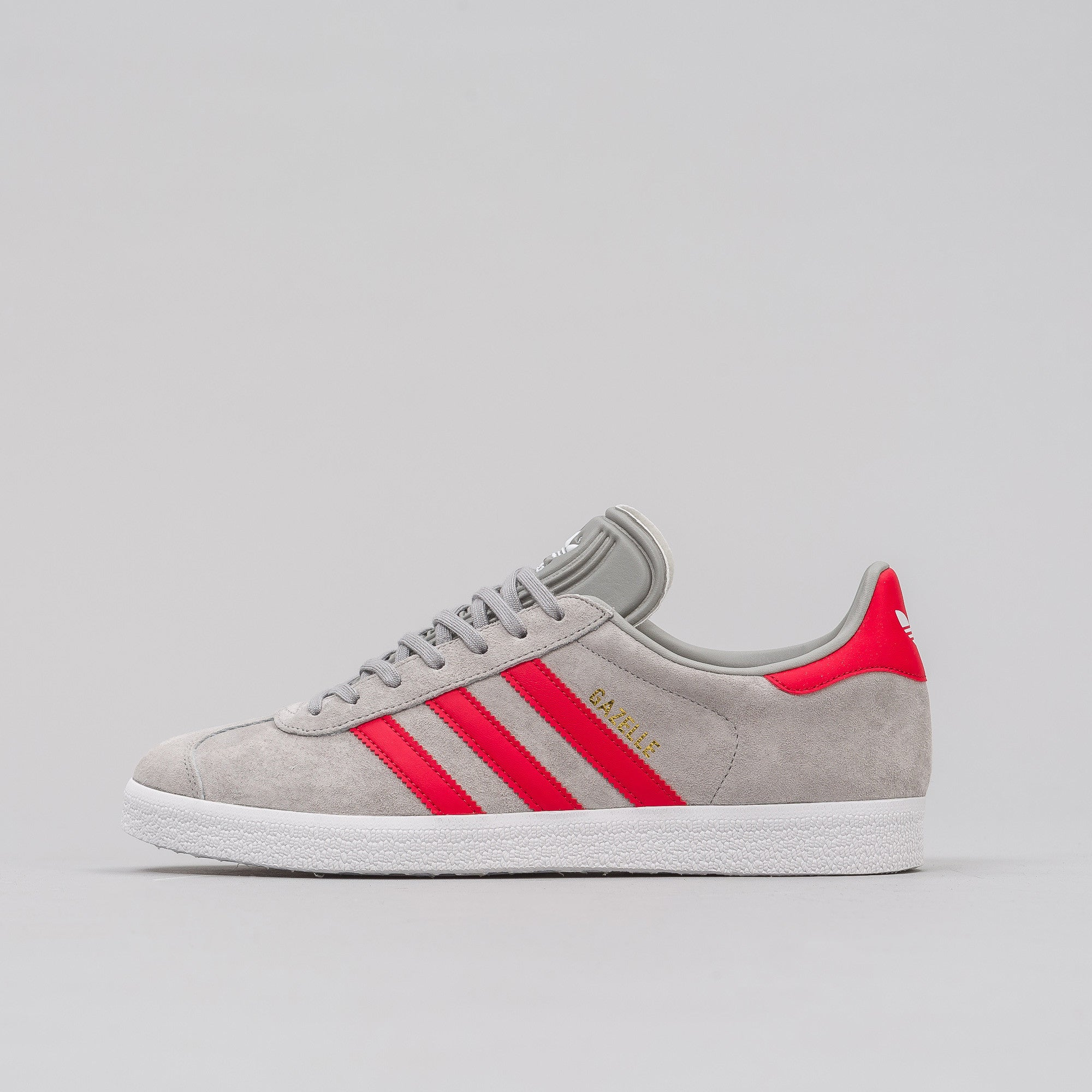 adidas gazelle grey and red
