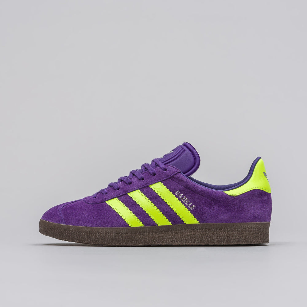 Adidas Gazelle in Purple/Solar Yellow - Notre
