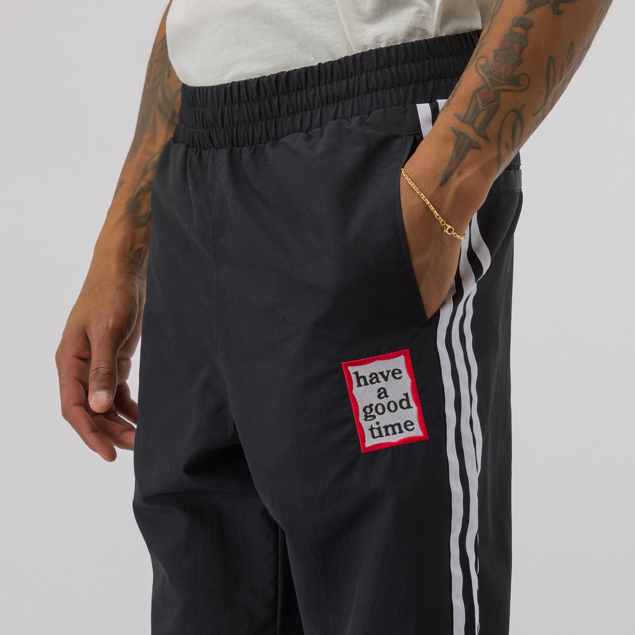 Have A Good Time Reversible Track Pant in Black