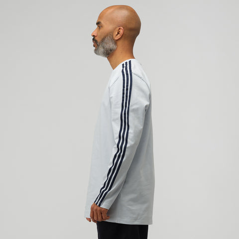 adidas Long Sleeve Stripe T-Shirt in Clear Grey - Notre