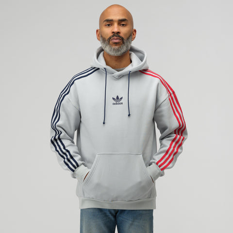 adidas 3 Stripe Hoodie in Clear Grey - Notre