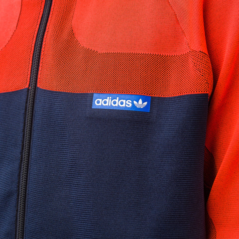 Adidas Knitted Track Suit in Orange/Ink - Notre