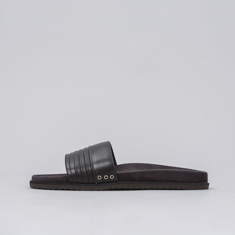 John Elliott Leather Sandal in Black - Notre