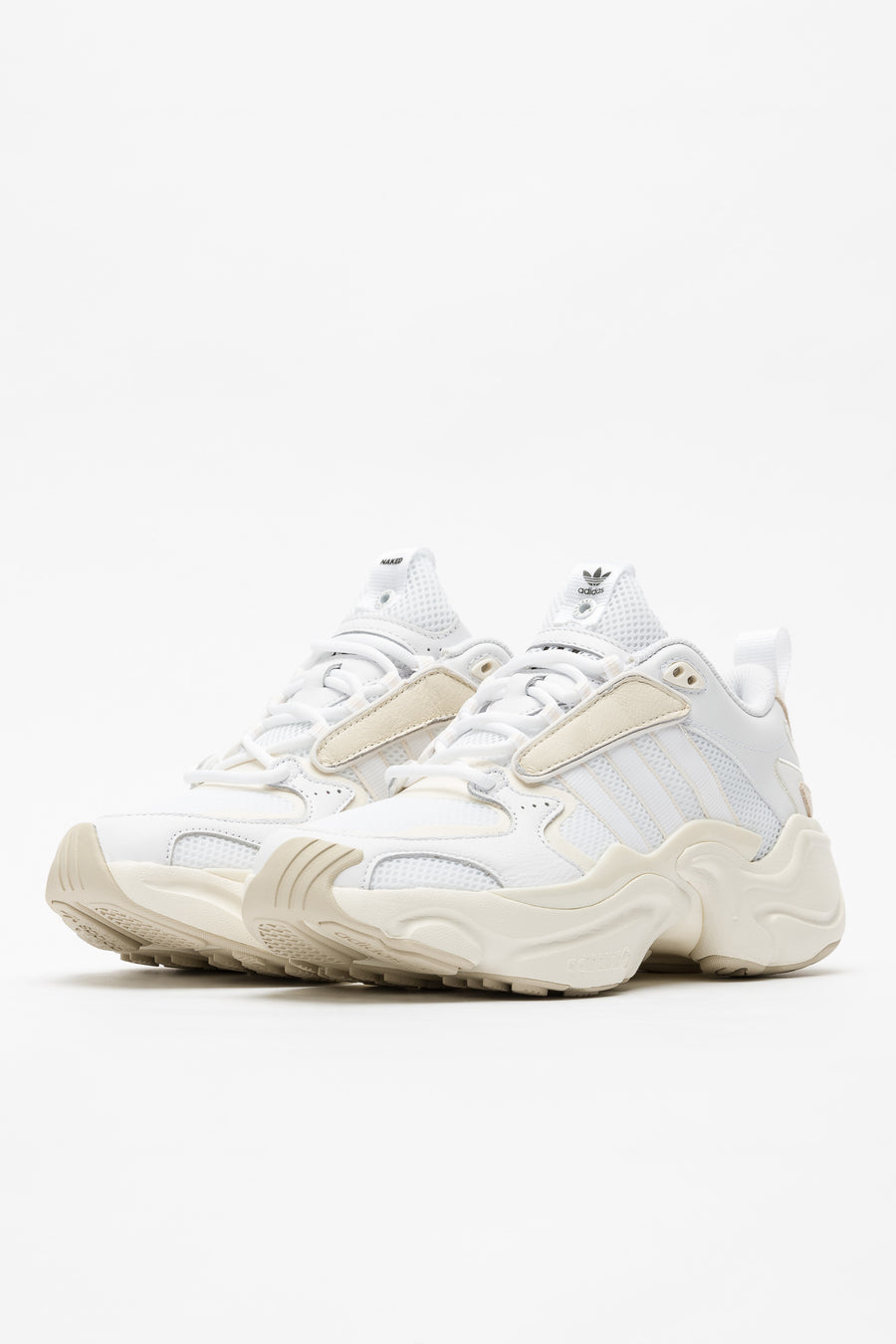 adidas Naked Magmur Runner in White/Cream - Notre
