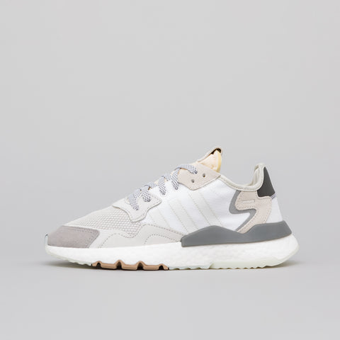 adidas Nite Jogger in White/Grey/Black - Notre