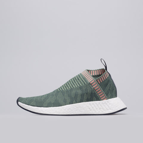 Adidas Women's NMD CS2 Primeknit in Trace Green/Trace Pink - Notre