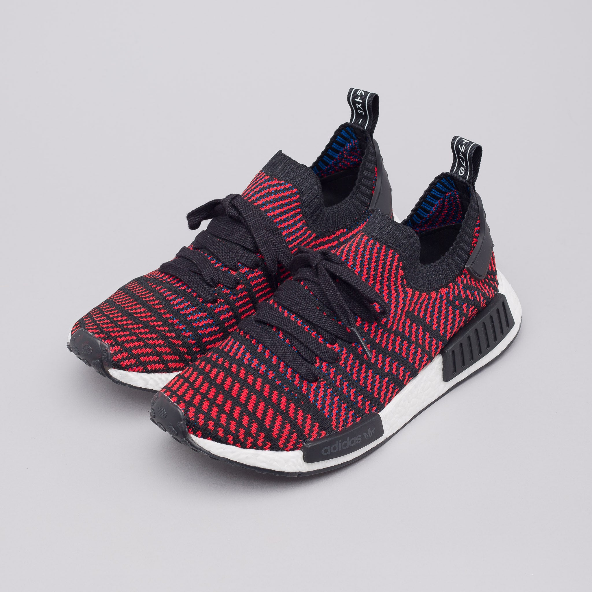 USED ADIDAS NMD R1 RUNNER ORIGINALS RED BLACK MENS
