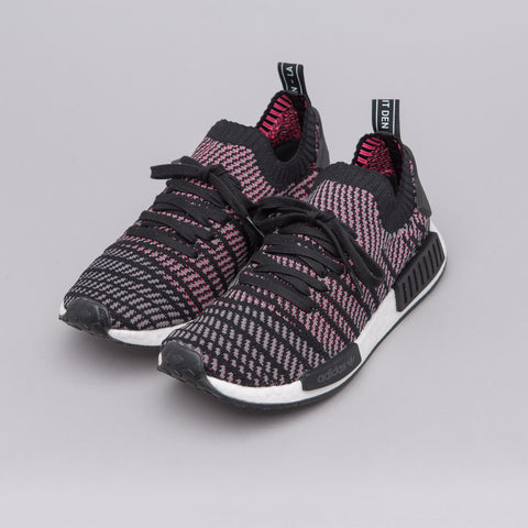 Adidas NMD R1 STLT Primeknit in Solar Pink/Core Black - Notre