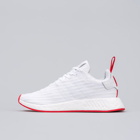 Adidas NMD R2 Primeknit in Vintage White / Core Red - Notre